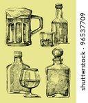 drink stack | Shutterstock .eps vector #96537709