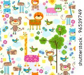 animals seamless background | Shutterstock .eps vector #96539749