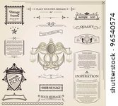 calligraphic elements vintage... | Shutterstock .eps vector #96540574