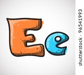 Letter E From Candy Alphabet....