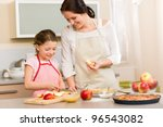 smiling mother and daughter... | Shutterstock . vector #96543082