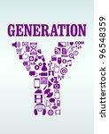 generation y | Shutterstock .eps vector #96548359