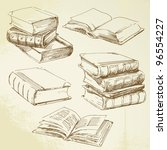 Books   Hand Drawn Set