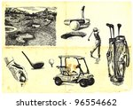 collection of hand drawn golf ...   Shutterstock .eps vector #96554662