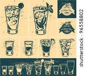 vintage cocktails collection.... | Shutterstock .eps vector #96558802