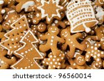 gingerbread man  christmas tree ... | Shutterstock . vector #96560014