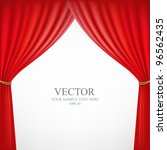 red theater curtain background  ... | Shutterstock .eps vector #96562435