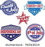 fourth of july and independence ... | Shutterstock .eps vector #96563014