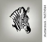 zebra | Shutterstock .eps vector #96574564
