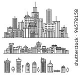 city and  elements for design. | Shutterstock .eps vector #96578158
