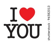 i love you | Shutterstock .eps vector #96582013