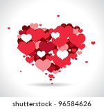 red love hearts | Shutterstock .eps vector #96584626