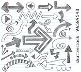 hand drawn sketchy doodle... | Shutterstock .eps vector #96589543
