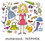 fashion set. vector  no gradient | Shutterstock .eps vector #96594406