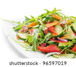 Fresh Salad Isolated On White