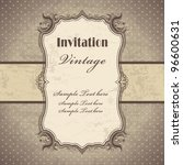 Stock vector vintage frame template 96600631
