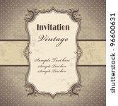 vintage frame template  3  | Shutterstock .eps vector #96600631