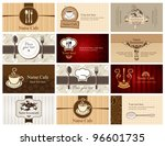 set of business cards on the... | Shutterstock .eps vector #96601735