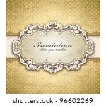 vintage frame template  4  | Shutterstock .eps vector #96602269