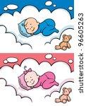 Sleeping Baby  Cartoon Baby...