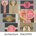 set of variety business gift... | Shutterstock .eps vector #96614593
