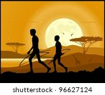 africa landscape background.... | Shutterstock .eps vector #96627124