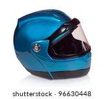 Motorcycle Helmet Isolated On...