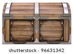 Old Wooden Chest Isolated On...