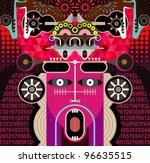 modern graphic art   vector... | Shutterstock .eps vector #96635515