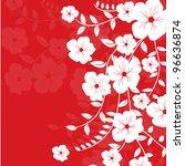 romantic flower invitation ...   Shutterstock .eps vector #96636874