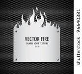 blank plate stainless steel... | Shutterstock .eps vector #96640381