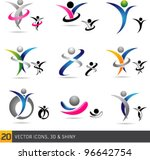 colorful abstract fitness... | Shutterstock .eps vector #96642754