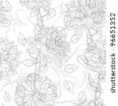 hand drawn floral wallpaper... | Shutterstock . vector #96651352