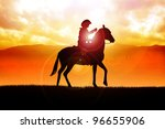 silhouette illustration of a... | Shutterstock . vector #96655906