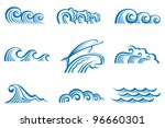 set of waves | Shutterstock .eps vector #96660301