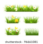 spring and summer grass set ... | Shutterstock .eps vector #96661081
