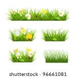 spring and summer grass set ... | Shutterstock .eps vector #96661081