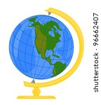 Vector Clipart Globe.