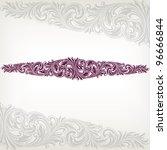 vintage baroque border frame... | Shutterstock .eps vector #96666844
