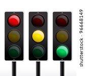 Isolated traffic light vector