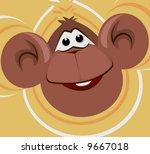 monkey laughing  | Shutterstock .eps vector #9667018