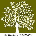 vector oak tree on green... | Shutterstock .eps vector #96675439