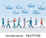 eight different characters  men ... | Shutterstock .eps vector #96679708