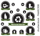 Vector Icon Set Of Recyclable...