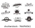 vintage style premium quality...   Shutterstock .eps vector #96696061