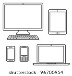 digital devices | Shutterstock .eps vector #96700954