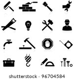 icons set construction and... | Shutterstock .eps vector #96704584