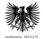 black heraldic eagles for... | Shutterstock .eps vector #96711175