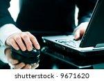image of businesswoman s hand... | Shutterstock . vector #9671620