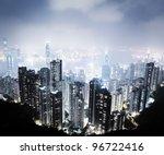 hong kong island from victoria... | Shutterstock . vector #96722416
